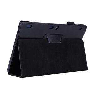 Dvoupolohový PU kožený obal na Lenovo Tab 2 A10-70 - černé - 5