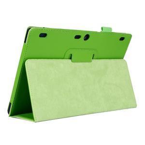 Dvoupolohový PU kožený obal na Lenovo Tab 2 A10-70 - zelené - 5