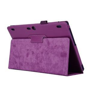 Dvoupolohový PU kožený obal na Lenovo Tab 2 A10-70 - fialové - 5