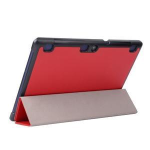 Trifold polohovatelné pouzdro na Lenovo Tab 2 A10-70 - červené - 5