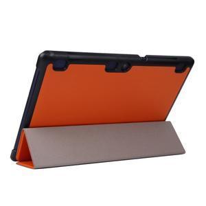 Trifold polohovatelné pouzdro na Lenovo Tab 2 A10-70 - ornažové - 5