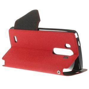 Diary pouzdro s okýnkem na mobil LG G3 - červené - 5