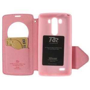 Diary pouzdro s okýnkem na mobil LG G3 - rose - 5