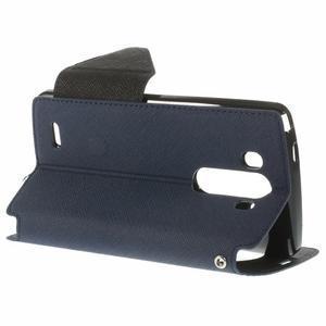 Diary pouzdro s okýnkem na mobil LG G3 - tmavěmodré - 5