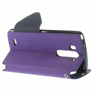 Diary pouzdro s okýnkem na mobil LG G3 - fialové - 5