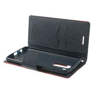 Goos peněženkové pouzdro na LG G3 - červené - 5
