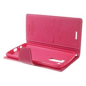 Goos peněženkové pouzdro na LG G3 - růžové - 5