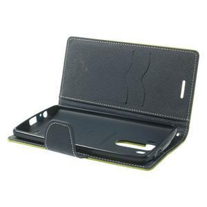 Goos peněženkové pouzdro na LG G3 - zelené - 5