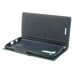 Goos peněženkové pouzdro na LG G3 - cyan - 5