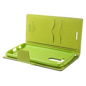Goos peněženkové pouzdro na LG G3 - tmavěmodré - 5