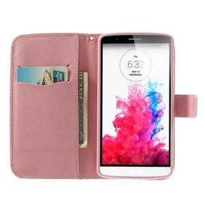 Ultra motive peněženkové pouzdro na LG G3 - malované kětiny - 5