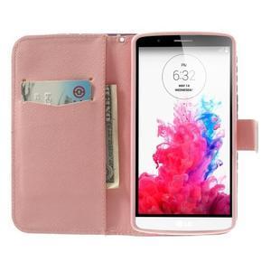 Ultra motive peněženkové pouzdro na LG G3 - srdíčka - 5