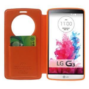 Roar peněženkové pouzdro s okýnkem na LG G3 - oranžové - 5