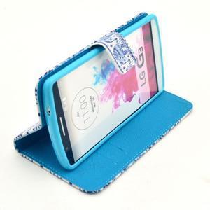 Obrázkové pouzdro na mobil LG G3 - modří sloni - 5