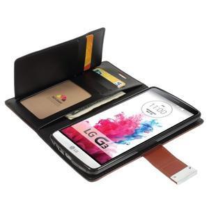 Luxusní PU kožené pouzdro na mobil LG G3 - hnědé - 5