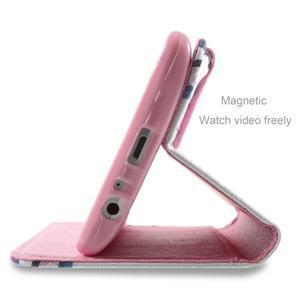 Motive koženkové pouzdro na LG G3 - fialový květ - 5