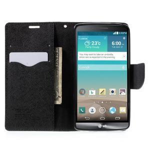 Cross PU kožené pouzdro na LG G3 - černé - 5