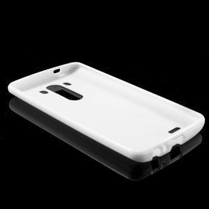 Lesklý gelový obal na LG G3 - bílý - 5