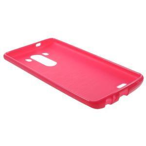 Lesklý gelový obal na LG G3 - červený - 5