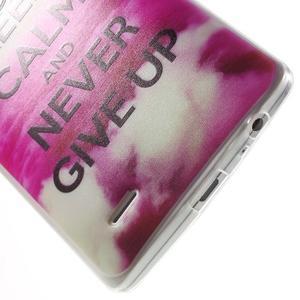 Silks gelový obal na mobil LG G3 - Keep Calm - 5