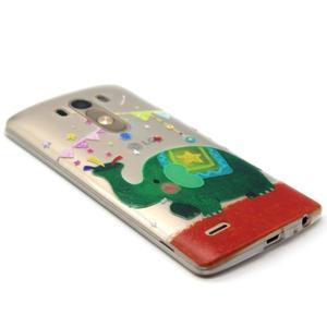 Průhledný gelový obal na LG G3 - slon - 5
