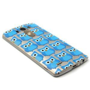 Průhledný gelový obal na LG G3 - modré sovičky - 5
