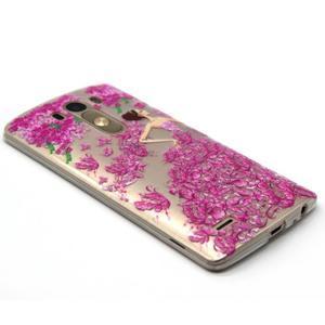 Průhledný gelový obal na LG G3 - šaty z růží - 5