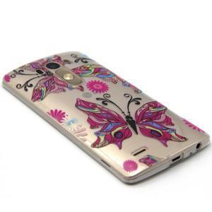 Průhledný gelový obal na LG G3 - barevní motýlci - 5