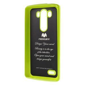 Odolný gelový obal na mobil LG G3 - zelený - 5