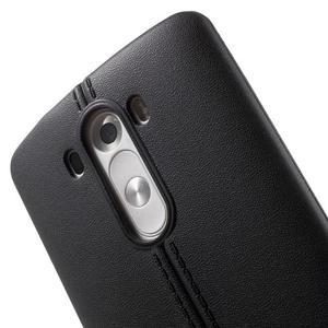 Lines gelový kryt na mobil LG G3 - černý - 5