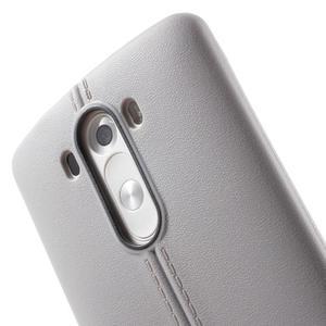 Lines gelový kryt na mobil LG G3 - šedý - 5