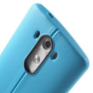 Lines gelový kryt na mobil LG G3 - modrý - 5