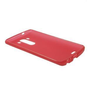 Matný gelový obal na LG G3 - červený - 5