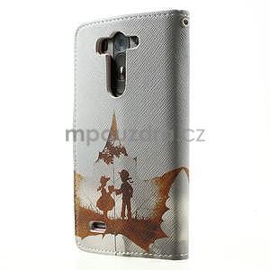 Zapínací peněženkové pouzdro pro LG G3 s - láska - 5