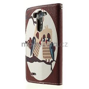 Zapínací peněženkové pouzdro pro LG G3 s - zamilovaní ptáčci - 5