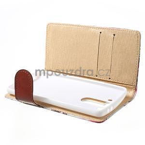 Elegantní lilie peněženkové pouzdro na LG G3 s - bílé - 5