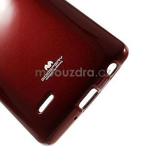 Odolný gelový obal na LG G3 s - tmavě červený - 5