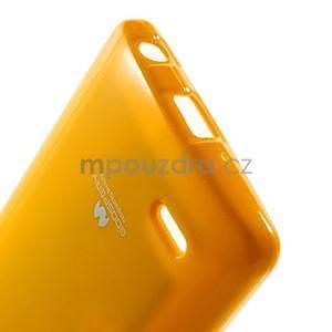 Odolný gelový obal na LG G3 s - oranžový - 5