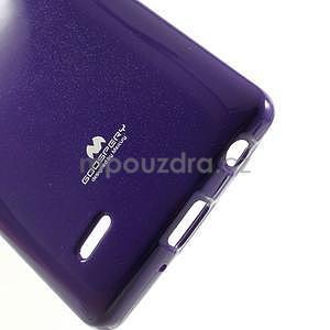 Odolný gelový obal na LG G3 s - fialový - 5