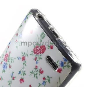 Gelový obal na LG G3 s - kytičky - 5