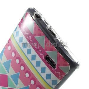 Gelový obal na LG G3 s - geometrické tvary - 5