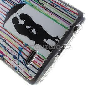 Gelový obal na LG G3 s - láska pod deštníkem - 5