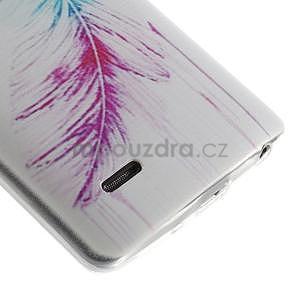 Ultra slim 0.6 mm gelový obal LG G3 s - barevné pírko - 5