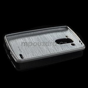 Broušený gelový obal na LG G3 s - šedý - 5