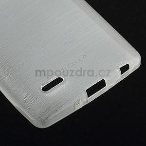 Broušený gelový obal na LG G3 s - bílý - 5