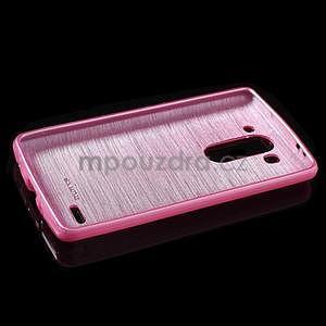 Broušený gelový obal na LG G3 s - rose - 5