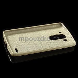 Broušený gelový obal na LG G3 s - zlatý - 5