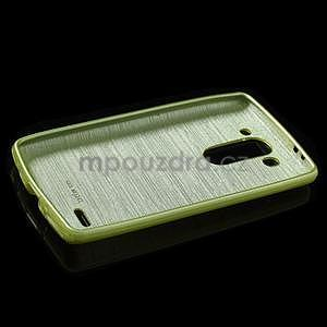 Broušený gelový obal na LG G3 s - zelený - 5