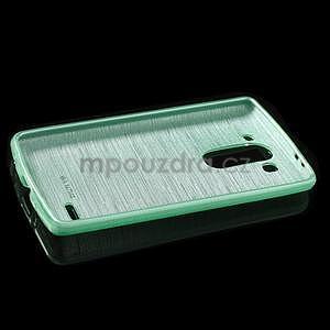 Broušený gelový obal na LG G3 s - azurový - 5