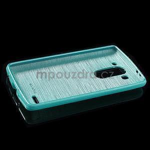 Broušený gelový obal na LG G3 s - tyrkysový - 5